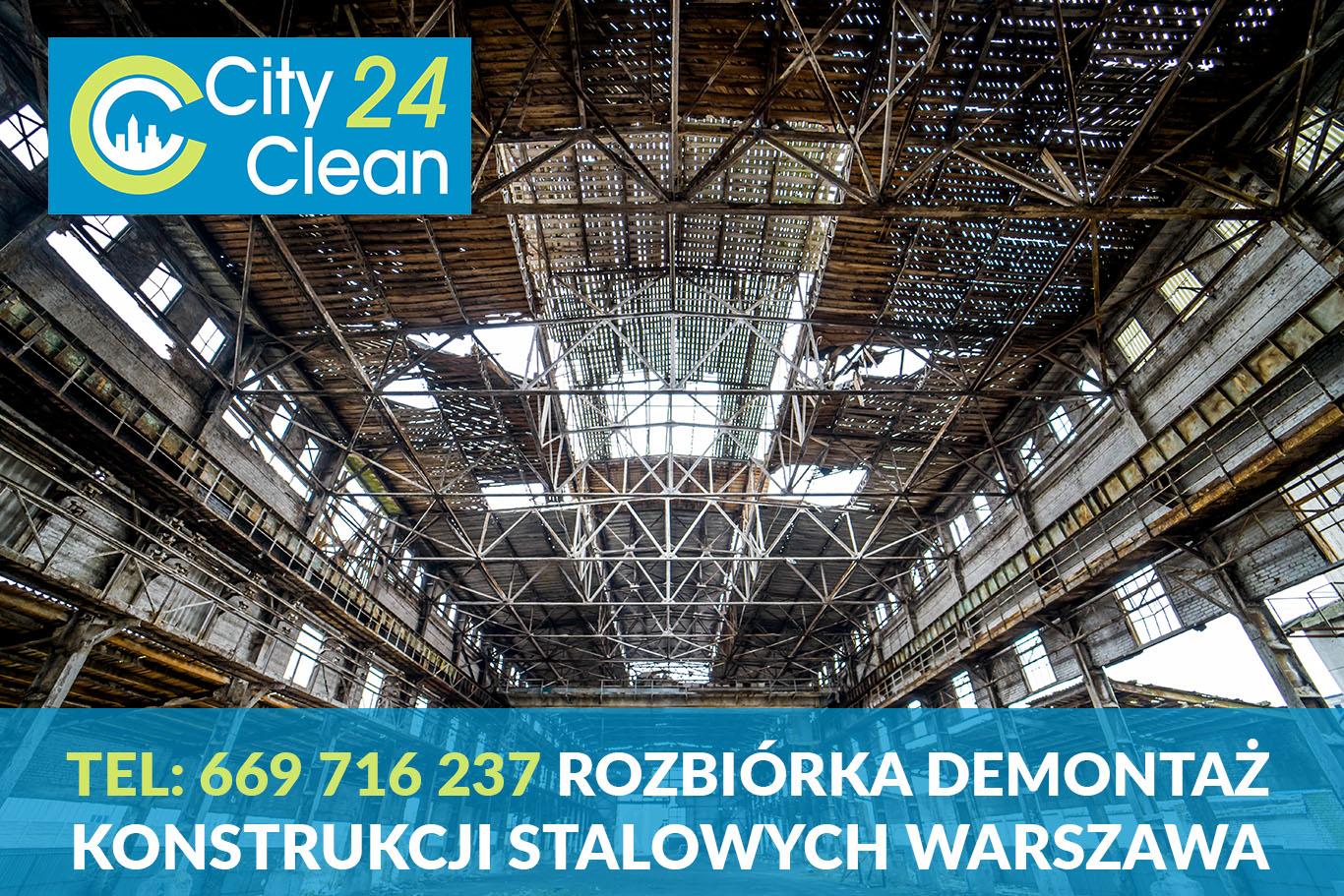 Rozbiórka demontaż konstrukcji stalowych Warszawa